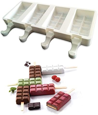 Silicone Popsicle Mold Tray Ice Cream Mold Ice Pop Lolly Maker Frozen Mould Tool
