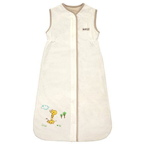 Small Unisex Baby Sleeping Bag - 100% Cotton Wearable Blanket - Creamy Giraffe 0-9 Months