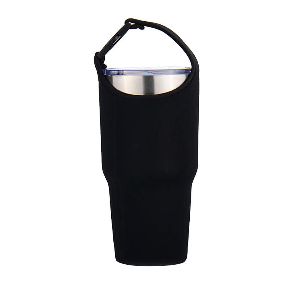 kemilove Sleeve Carrying Pouch Bag Neoprene Water Bottle Case Holder Carrier-for Travel/Walking/Hiking/Camping (Black)