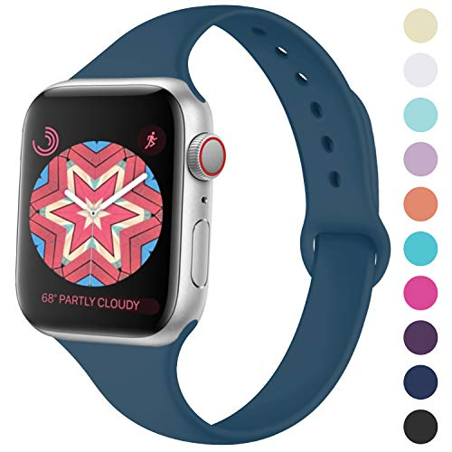 (KOLEK Bands for Apple Watch 42mm 44mm Series 4 3 2 1, Rock Cyan)