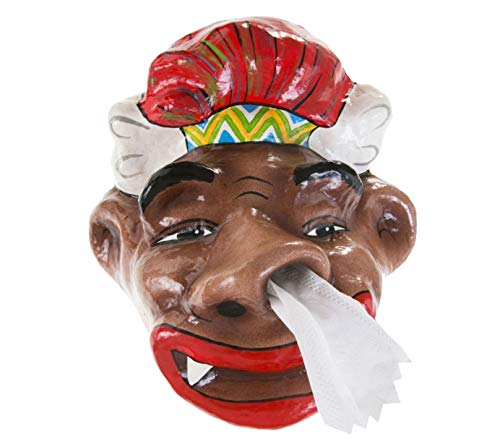 WitnyStore Toilet Paper Tribe Barbarian Halloween Holder Tissue Bathroom Paper Mache Holding roll Kids Handmade Craft Home Decorations idea DIY