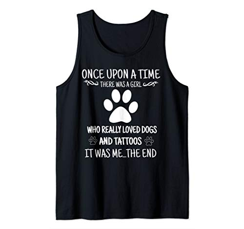 (Girl Who Loves Tattoos And Dogs Tank Top)