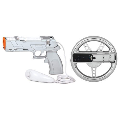 dreamGEAR Nintendo Wii Race and Shoot Bundle (silver)