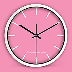 zhENfu Quartz Watches The Nordic Minimalist Creative Living Room Modern Wall Clock Round Personality Clock Mute Bedroom Attached Table .F Wall Clock