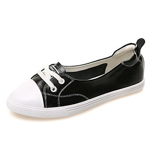 color Tabla Embarazada Tamaño Los Casuales De Blancos Estudiantes Zapatos Cuero Cordones Para 36 Negro Con Viaje Zjm Verano Bombas mujer zapatos Negro Propulsión 7qxzUwUR