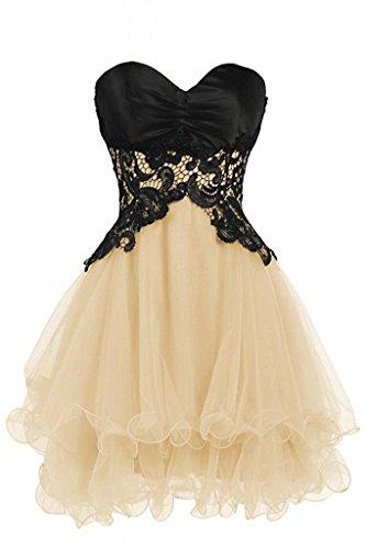 ulle Short Bridesmaid Dresses Homecoming Dresses 2017 Champagne US12 (Bonny Bridal Dresses)