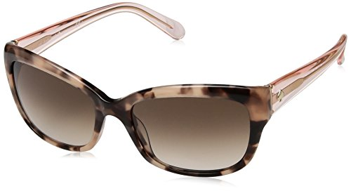 Kate Spade Women's Johanna Rectangular Sunglasses, Havana Rose Pnk, 27 - Spade Kate Case Sunglass