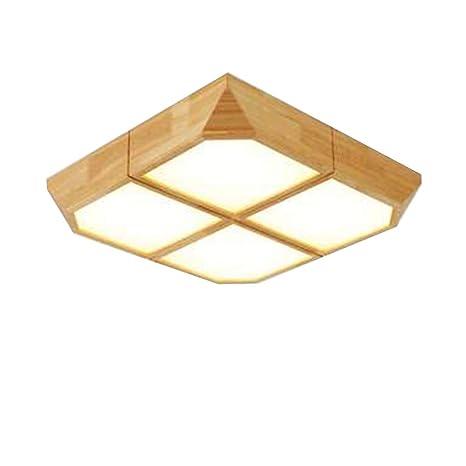 Amazon.com: Lámpara de techo para dormitorio de madera ...
