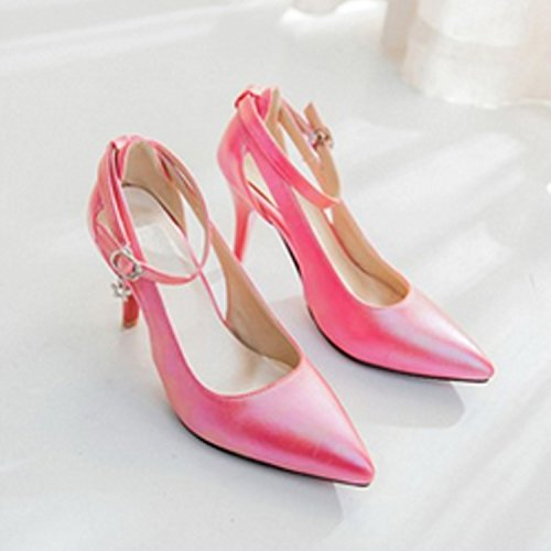 Nonbrand Straps Synthetic Stiletto Pink Women's Hot Ankle Strappy Heel rCqrtHx