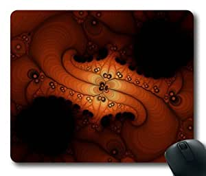 Fractals Orange Rectangle Mouse Pad by eeMuse