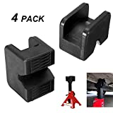 Jack Pad Adapter, 4-Pack Jack Pad Adapter Rubber Slotted Universal for Jack Stand, Frame Rail Jack Pinch welds Protector
