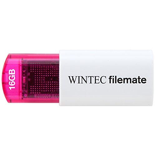 Wintec FileMate USB Flash Drive 16GB Mini Plus RoHS, Red - Autorun Usb Drive