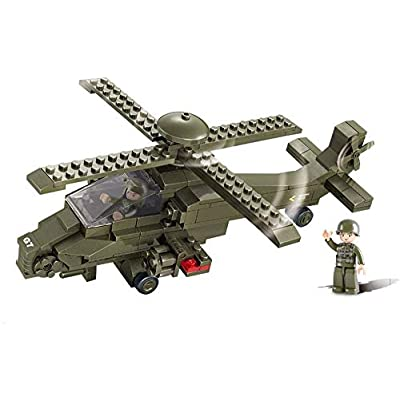 Sluban Military Blocks Army Bricks Toy - Hind Helicopter: Toys & Games