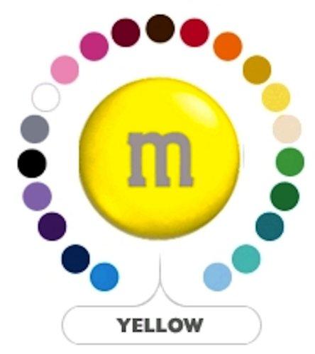 M&M's Yellow Milk Chocolate Candy 1LB Bag