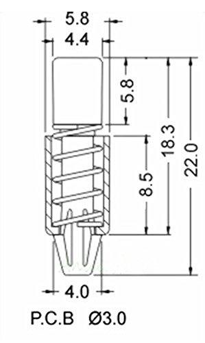 50pcs pc heatsink cooling fan spring rivet fastener push pin mounting screw