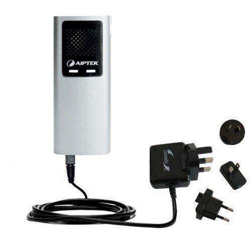 Das 10W Wandsteckdosen-Ladegerät International AC kompatibel mit Aiptek PocketCinema T30 T20 Mit TipExchange von Gomadic