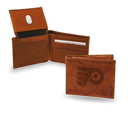 Rico Industries NHL Philadelphia Flyers Embossed Leather Billfold Wallet ()