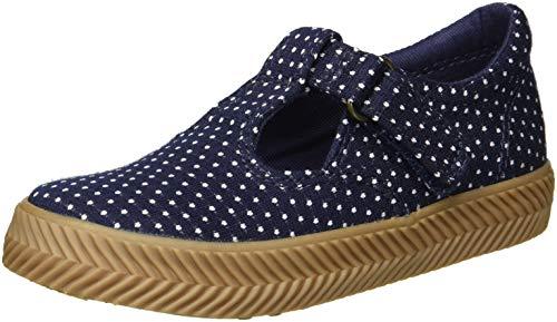 Keds Girls' Daphne Herring ND Sneaker, Navy Dot, 11 Medium US Little Kid