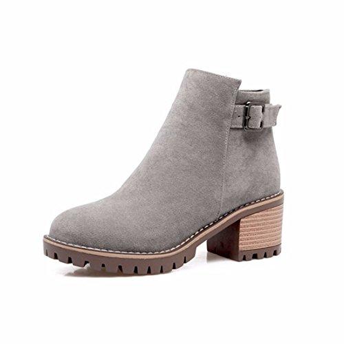 short Grey boots autumn Ladies' in Pqwdff1Wv