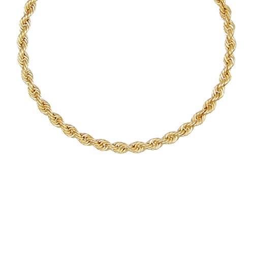Collier Femme Or Jaune - Maille Corde