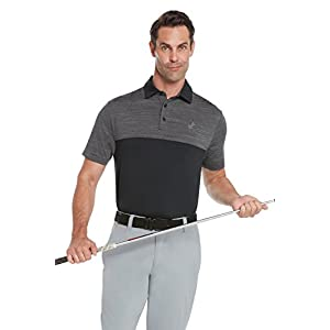 Jolt Gear Dri-Fit Mens Moisture Wicking Two-Tone Polo Cleaning Shirt - holding golf club