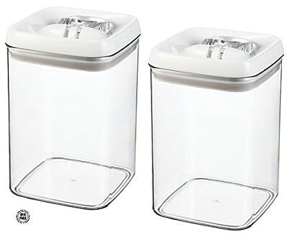 Amazoncom 2 Pack Felli Flip Tite Acrylic Food Storage