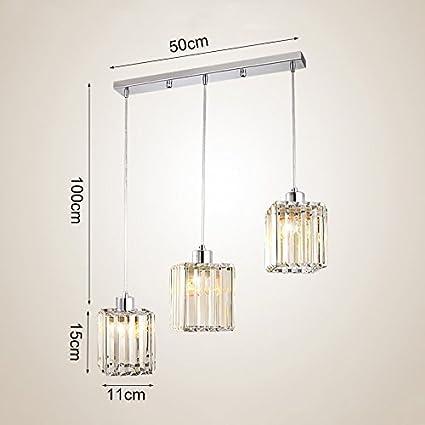 Amazon.com: Kids Children\'s Lamps 3 Crystal Chandeliers Restaurant ...