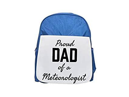 PROUD DAD OF A Meteorologist mochila infantil estampada azul, mochilas lindas, mochilas pequeñas lindas
