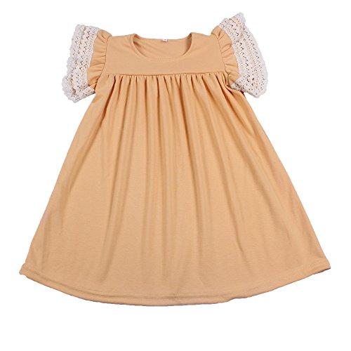 Yawoo Haan Baby Girls Cotton Boutique Dresses Toddler