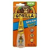 Gorilla Glue 7500102 10 Pack 10 Gram Super Glue Brush and Nozzle, Clear