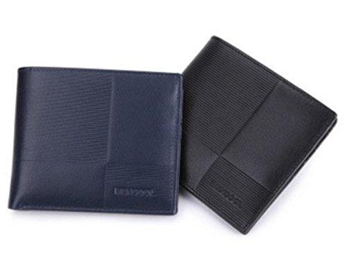 Pocket Fashion Case Slim ID Billfold Front Card Blue Wallet BININBOX Coin Purse Men p4TP1xwBEq