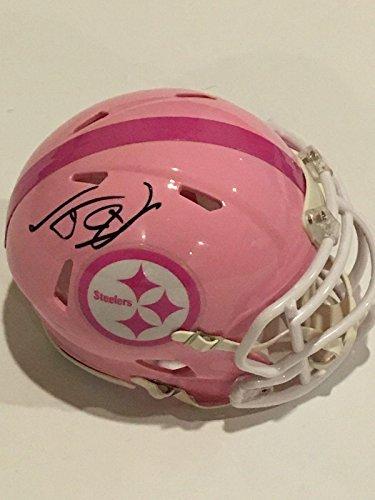 T.J. Watt Autographed Mini Helmet - Tj Pink Proof - Autographed NFL Mini Helmets Autographed Pink Mini Helmet