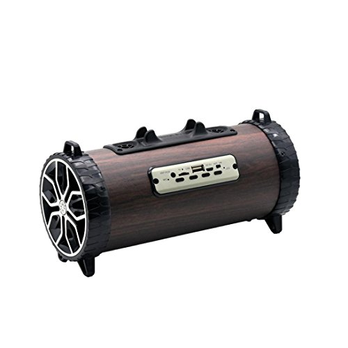 YRD Tech Portable Wooden Wireless Speaker Backband Outdoor Heavy Subwoofer Blueteeth Speaker Box Mobile Phone Stand Audio (Black) by YRD TECH