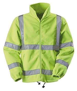 Blackrock Men's Hi-Vis Fleece Jacket - Yellow, Medium by Blackrock