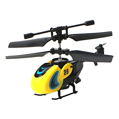 Fang sky HW7003 2CH Channel Mini RC Helicopter Aircraft Remote Controller Hover Micro Toy (Yellow)