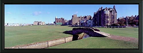Easy Art Prints Panoramic Images's 'Footbridge in a Golf Course, The Royal and Ancient Golf Club of St Andrews, St. Andrews, Fife, Scotland' Premium Framed Canvas Art - 30