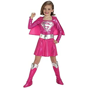 - 41EqoA75HGL - Girls Supergirl Costume – Pink