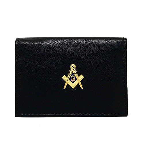 Freemasons Business Card Case – Mason Leather Business Card Wallet – Cigar Cutters by Jim