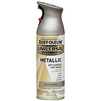 RUST-OLEUM 249130 11-Ounce  Satin Nickel Metallic Spray Paint