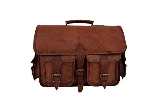 - Vintage Leather DSLR Camera Bag with Removable Inserts, 13 Inch MacBook/Laptop Briefcase Messenger Satchel Shoulder Bag