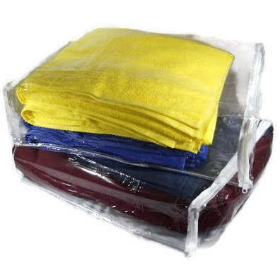 clear vinyl zippered blanket storage