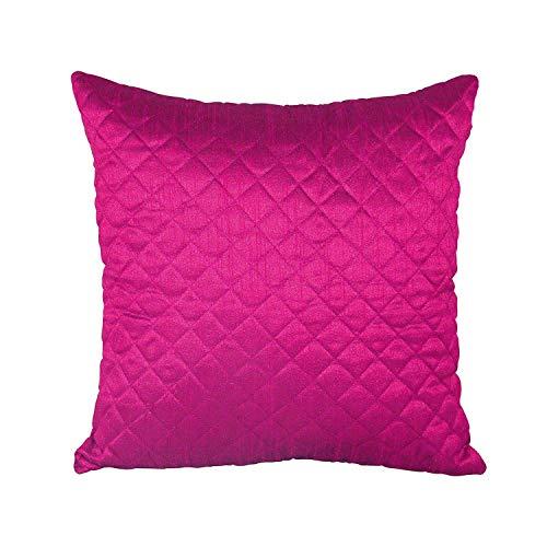 Home Sajja Indian Magenta Pillow Case Dupion