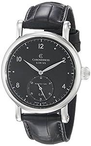 Chronoswiss Men's CH-1023-BK/11-1 Sirius Analog Display Mechanical Hand Wind Black Watch