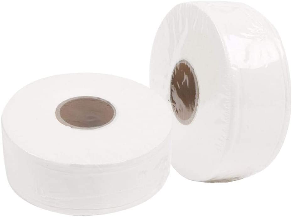 600g Toilet Rolls Paper Bulk Large 3-Ply Bath Tissue Paper Eco-Friendly Soft Roll Tissue Paper for Kitchen Bathroom Restaurant Hotel