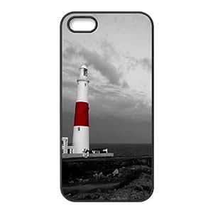 IPhone 5,5S Case Lighthouse 5, - [Black] Cathycutecat