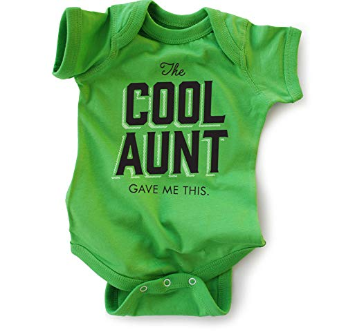 (Wrybaby Funny Baby Bodysuit | The Cool Aunt Gave Me This | Green, 0-6M)