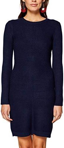 edc by ESPRIT Damen 998CC1E801 Kleid, Blau (Navy 400), Large