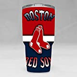 JOEJOURNEYMAN Stainless Steel Coffee Travel Mug Tumbler 30 oz Double Wall Vacuum Insulated Coffee Mug for Hot & Cold Drinks (Boston Red Sox)