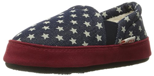 Price comparison product image Acorn Kids' Colby Gore Moc Slipper, Navy Stars, 3/4 M US Big Kid
