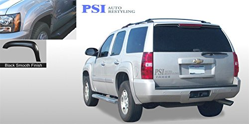 PSI Auto Restyling 800-0132 OEM Style Fender Flares; Front And Rear; Flare Width OEM; Tire Coverage OEM; Smooth Black